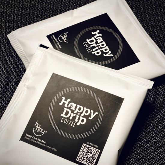2 Boxes Happy Drip Coffee (10g x 16 bags)